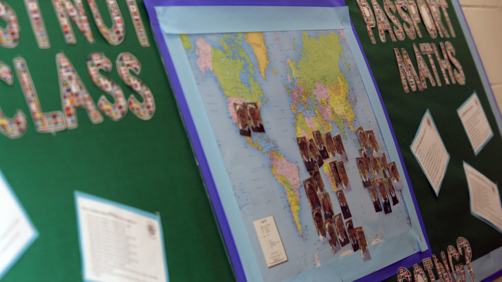 Map of the world school display