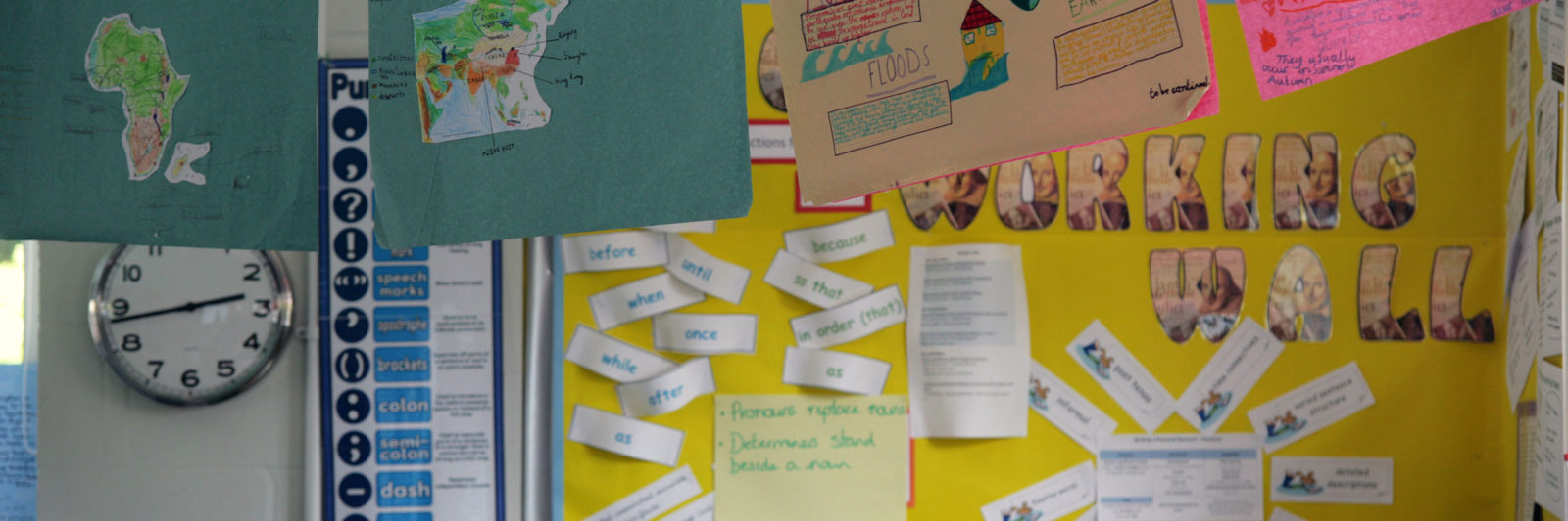 Children's work in the classroom