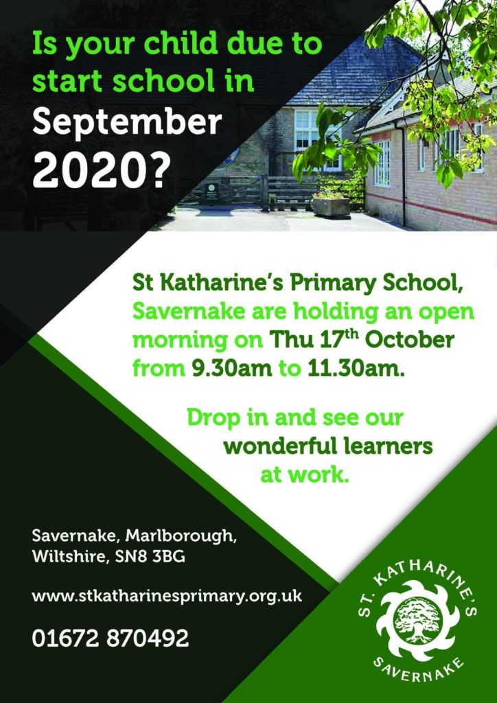 St Katharine's open day poster
