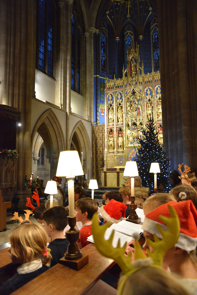 Children singing in concert at Marlborough College