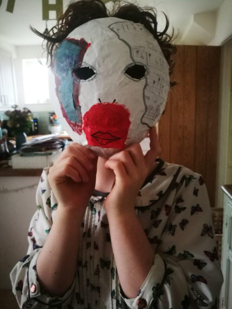 Eva papier mache mask