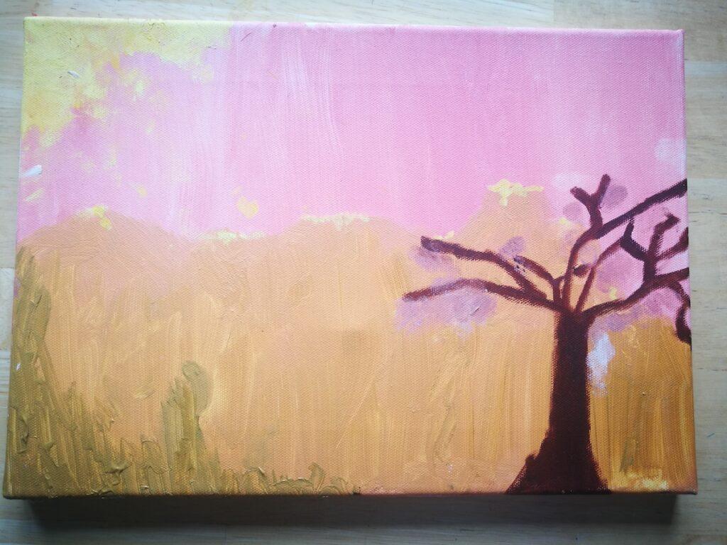 Eva oil painting