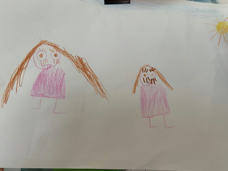 Grace drew this picture of her and her Mummy.