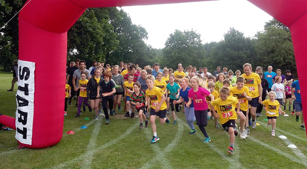 Start of Savernake 10k Fun Run